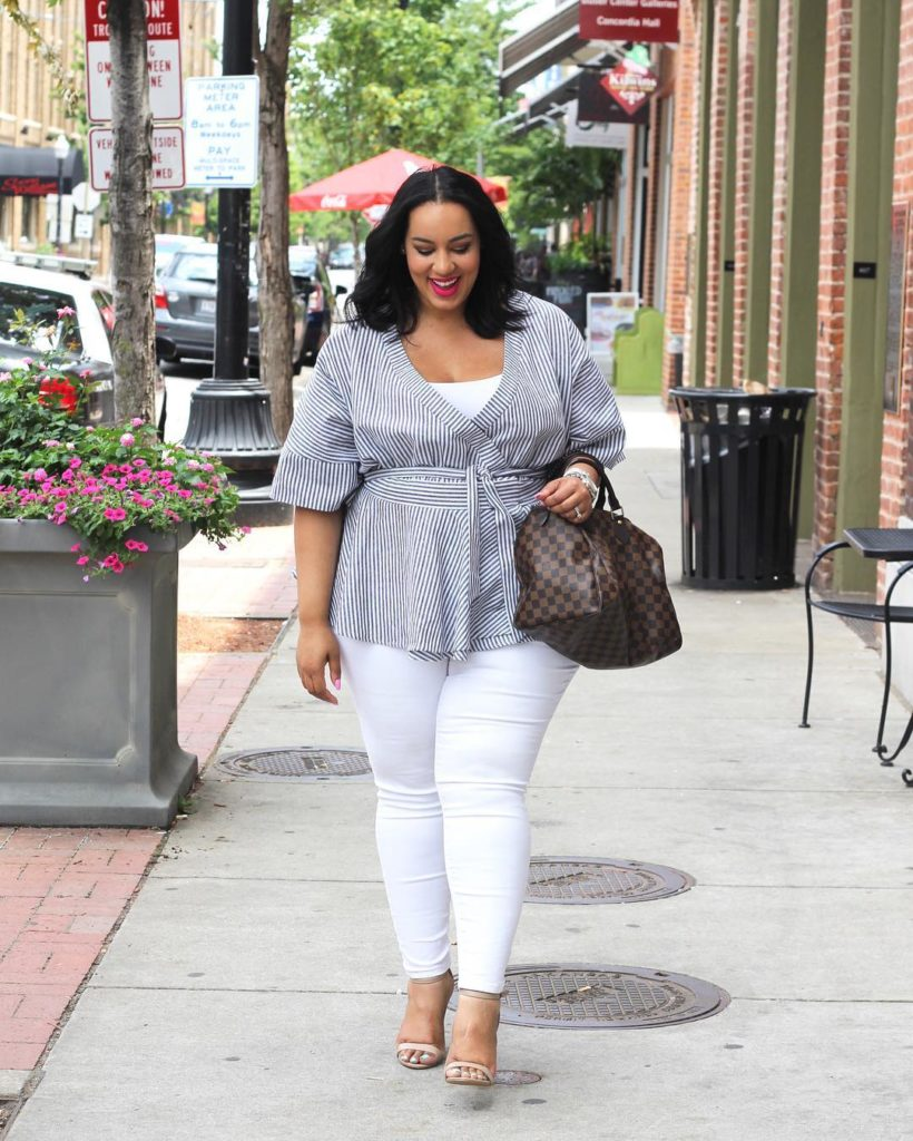 Wrap tops white jeans amp big smiles on beauticurve todayhellip