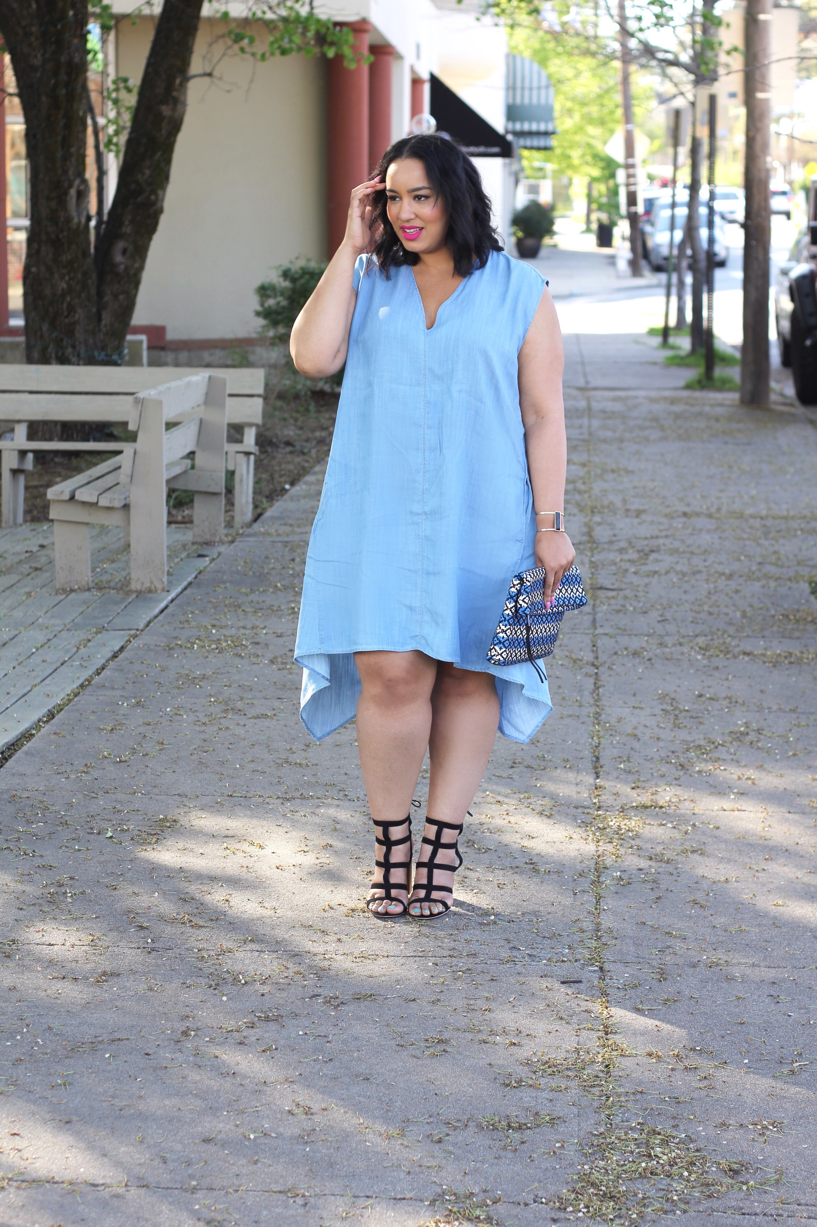 5a8dcab34c6 Today Im styling u this spring-perfect dress from Macy s. I was so excited  when I heard Macy s had the new Rachel Rachel Roy Curvy Collection.